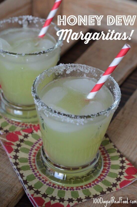 Honeydew Margaritas on 100 Days of #RealFood