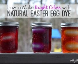 How to dye eggs naturally on 100 Days of #RealFood