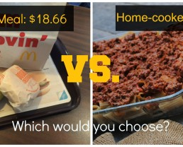 McDonald's Vs. Home Cooked Meal on 100 Days of #RealFood
