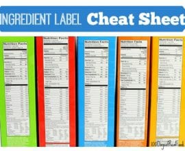 Ingredient labels cheat sheet on 100 Days of #RealFood