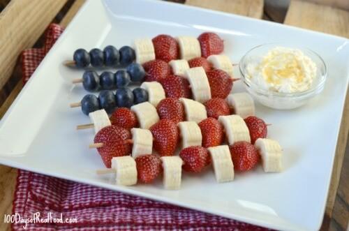 Snack Size Patriotic Kabobs