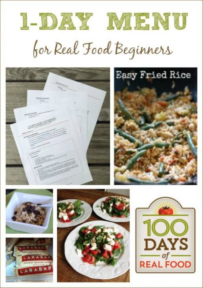 1 Day Menu for Real Food Beginners from 100 Days of #RealFood