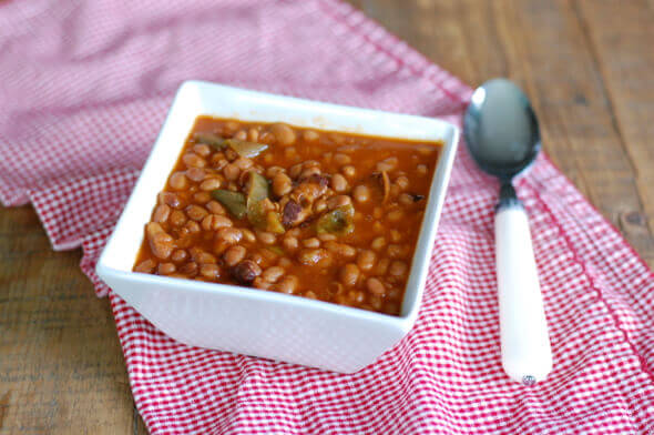 4th of July Recipe Roundup (Slow Cooker Baked Beans) on 100 Days of #RealFood
