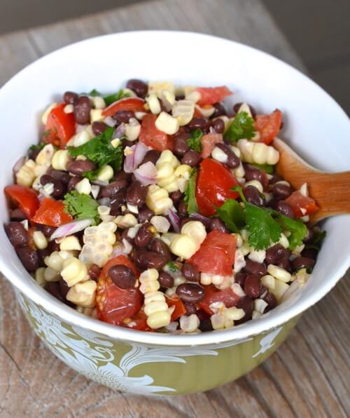 4th of July Recipe Roundup (Tomato, Corn and Black Bean Salad) on 100 Days of #RealFood