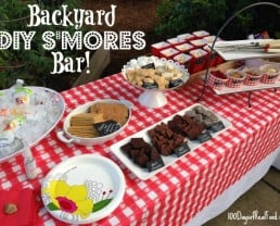 DIY S'mores Bar with Homemade Flavored Marshmallows and a Backyard Movie!