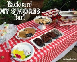 DIY Smores Bar on 100 Days of #RealFood
