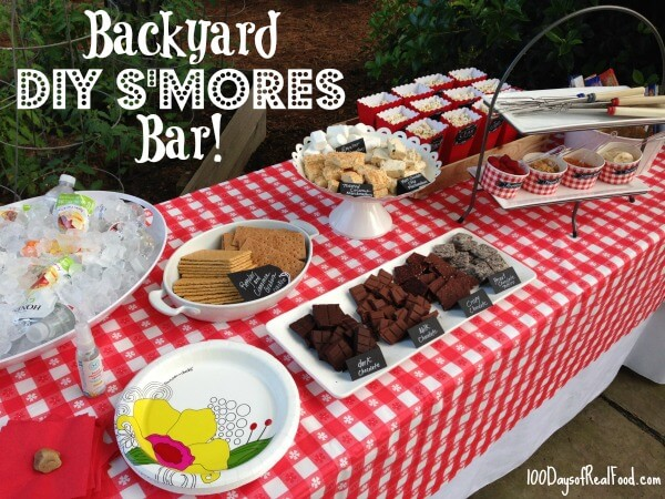 DIY Smores Bar on 100 Days of #RealFood