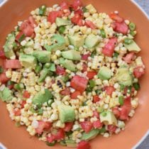 DSC 0508 210x210 - Charred Corn Salad with Tomatoes and Avocados Recipe