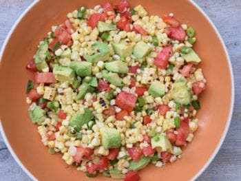 Charred Corn Salad with Tomatoes and Avocados Recipe