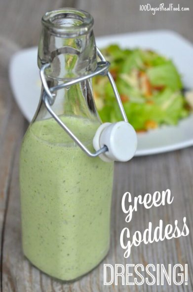 Green Goddess Dressing recipe on 100 Days of #RealFood