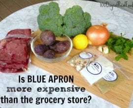 Is Blue Apron More Expensive Than The Grocery Store on 100 Days of #RealFood