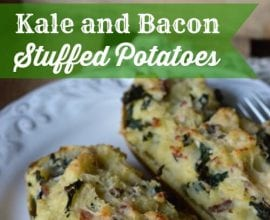 Kale and Bacon Stuffed Potatoes on 100 Days of #RealFood