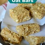 NO-Bake Peanut Butter Oat Bars on 100 Days of #RealFood