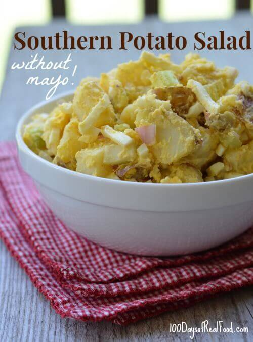 4th of July Recipe Roundup (Southern Potato Salad) on 100 Days of #RealFood
