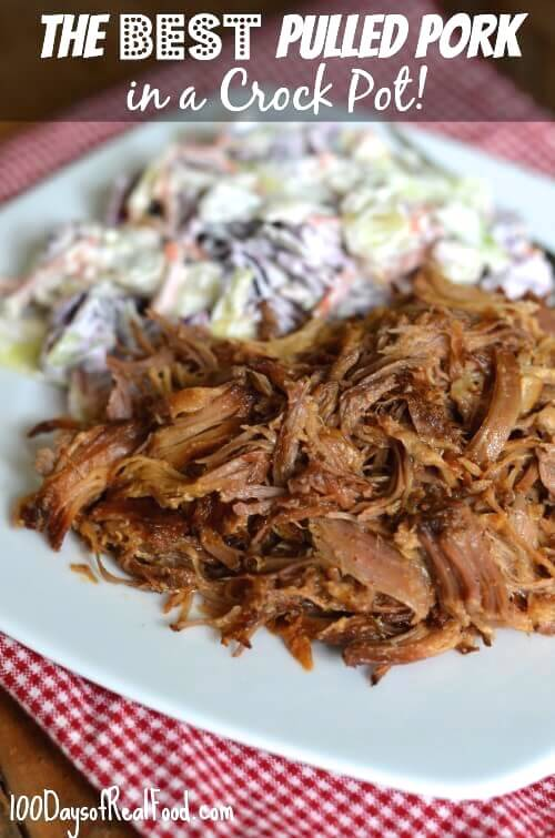 4th of July Recipe Roundup (Best Crock Pot Pulled Pork) on 100 Days of #RealFood