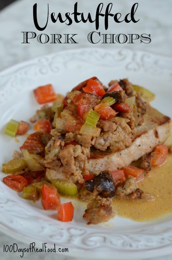 Unstuffed Pork Chops on 100 Days of #RealFood