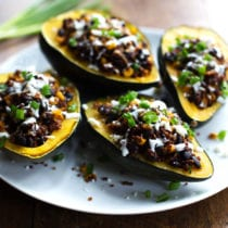 stuffed squash 1 210x210 - Roasted Corn and Quinoa Stuffed Squash Recipe