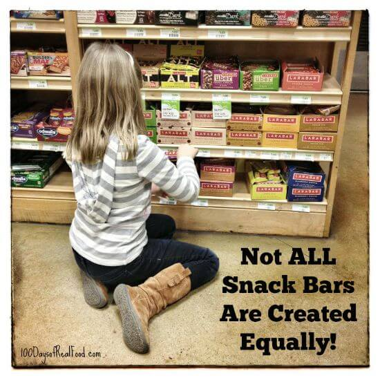 Snack Bars: Real Food or Really Unhealthy? on 100 Days of #RealFood