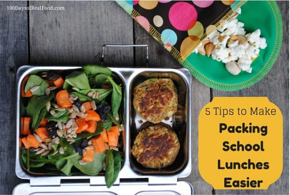 5 Tips to Make Packing School Lunches Easier on 100 Days of #RealFood