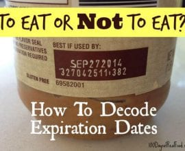 How to Decode Expiration Dates on 100 Days of #RealFood