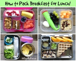 5 Ways to Pack Breakfast for Lunch!
