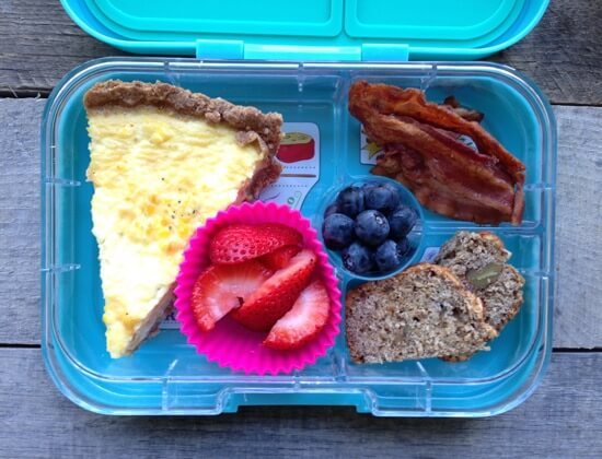 Quiche breakfast for lunch on 100 Days of #RealFood