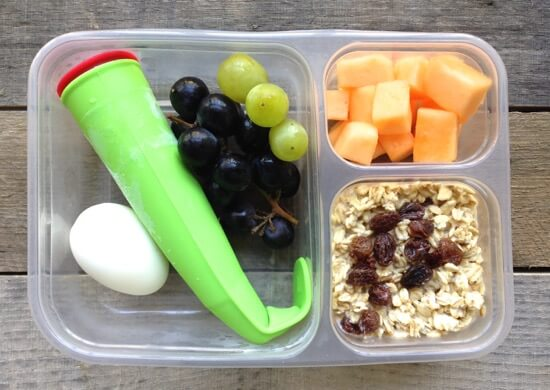 Smoothie breakfast for lunch on 100 Days of #RealFood