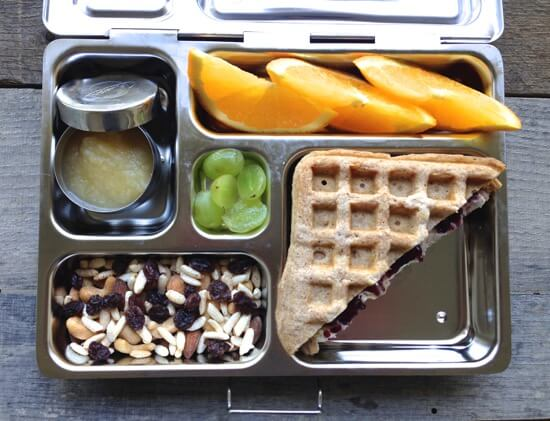 Waffle breakfast for lunch on 100 Days of #RealFood