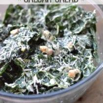 Creamy Kale Caesar Salad on 100 Days of #RealFood