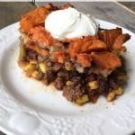 Easy Taco Pie on 100 Days of #RealFood