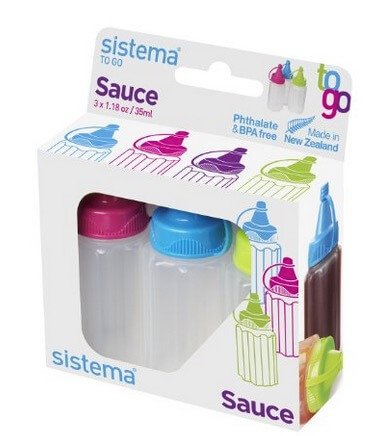 School Lunch Accessories on 100 Days of #RealFood (sauce bottles)