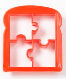 Puzzle piece sandwich cutter on 100 Days of #RealFood