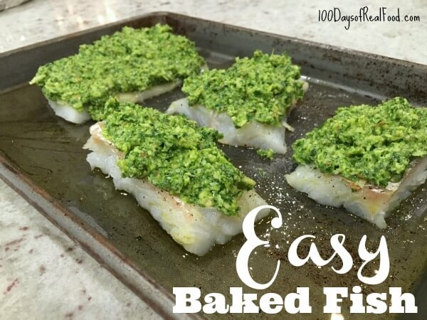 Easy Baked Fish on 100 Days of #RealFood