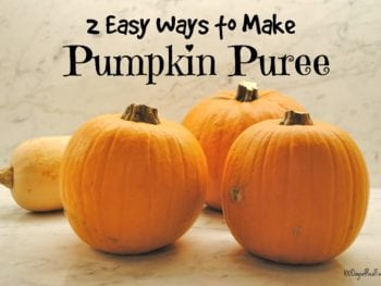 2 Easy Ways to Make Pumpkin Puree