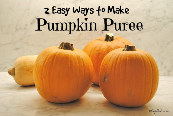 2 Easy Ways to Make Pumpkin Puree on 100 Days of #RealFood
