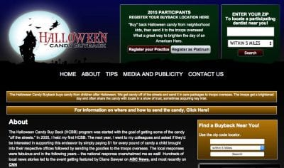 Halloween candy buyback program on 100 Days of #RealFood