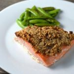Easy Walnut Crusted Salmon on 100 Days of #RealFood