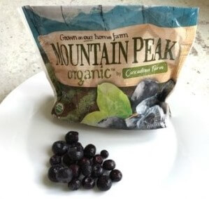 Cascadian Farm Frozen Blueberries on 100 Days of #RealFood