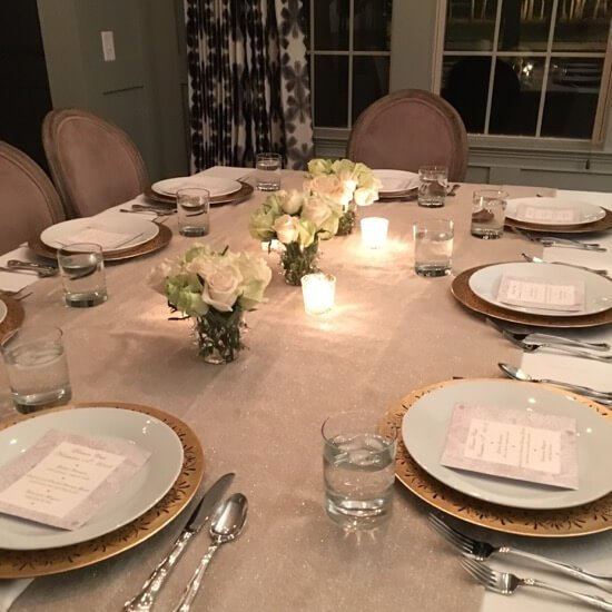 Dinner Club table setting on 100 Days of #RealFood