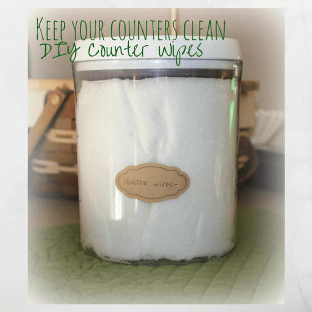 DIY Homemade Counter Wipes on 100 Days of #RealFood