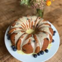 Blueberry Lemon Bundt Cake on 100 Days of Real Food