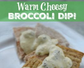 Cheesy Broccoli Dip on 100 Days of #RealFood