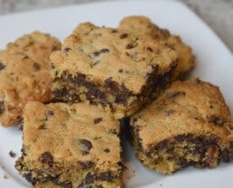 Chocolate Chip Blondies (and Cookie Exchanges)