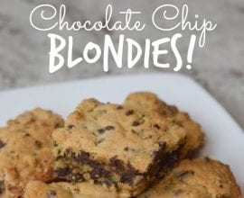 Chocolate Chip Blondies on 100 Days of #RealFood