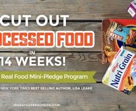 Real Food Mini-Pledge Program on 100 Days of #RealFood