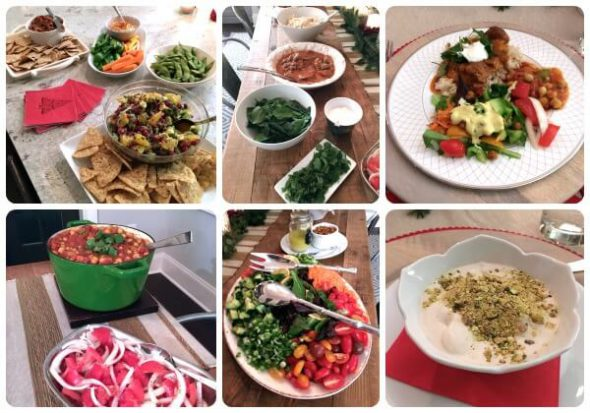 Indian Themed Team Dinner on 100 Days of #RealFood