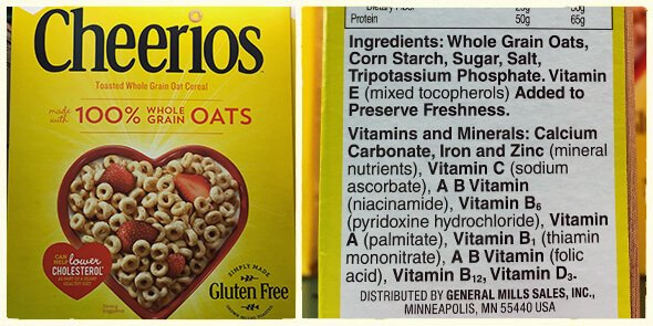 What's in your cereal on 100 Days of Real Food - Cheerios