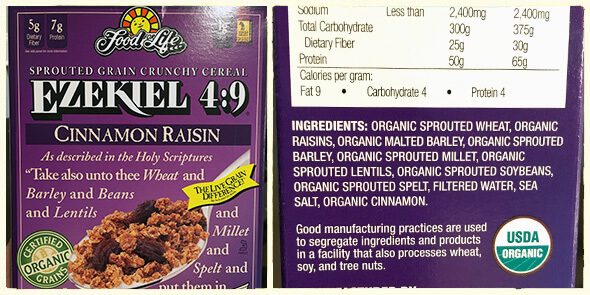 What's in your cereal on 100 Days of Real Food - Ezekiel