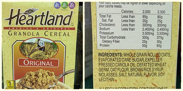 What's in your cereal on 100 Days of Real Food - Heartland Granola