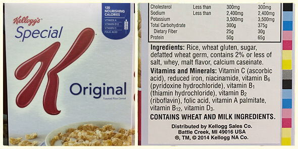What's in your cereal on 100 Days of Real Food - Special K